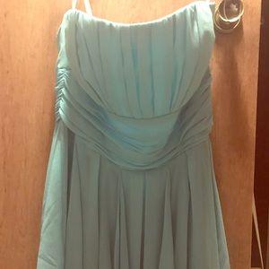 Tiffany blue David's Bridal dress size 14